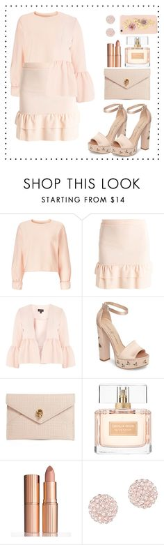 """50 shades of nude"" by nia-nc on Polyvore featuring Miss Selfridge, Topshop, Chinese Laundry, Alexander McQueen, Givenchy, Charlotte Tilbury, Swarovski, Dolce&Gabbana, nude and FiftyShades"