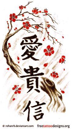 Japanese Cherry-blossom tattoo-design neck - Google Search