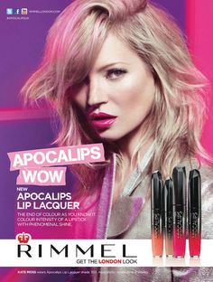 Kate Moss Shines in Rimmel London's Spring/Summer 2013 Campaign - Fashion Gone Rogue: The Latest in Editorials and Campaigns Rimmel Makeup, 00's Makeup, Beauty Makeup, Kate Moss, Perfume Ad, London Look, Campaign Fashion, Beauty Ad, Lip Lacquer