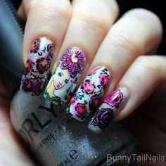 BunnyTailNails: Roses are red and violets are blue, Sleeping Beauty my nails love you (not...)