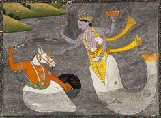 Paramchaintanya Men — Painting, India, Kangra, 1800, Pigments and gold...