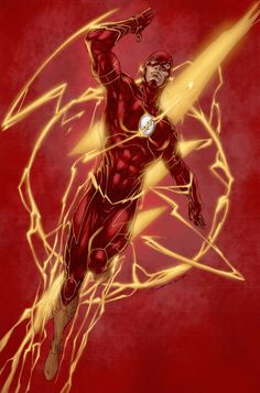 The Flash by Brett Booth- great layout Comic Book Characters, Comic Book Heroes, Comic Books Art, Comic Art, Flash Barry Allen, Kid Flash, The Flash Art, Dc Comics Art, Marvel Dc Comics