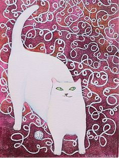 KRISTINA SWARNER - RED CAT Pet Art, Red Cat, Kids Rugs, Pets, Gallery, Paper, Beauty, Kid Friendly Rugs, Roof Rack