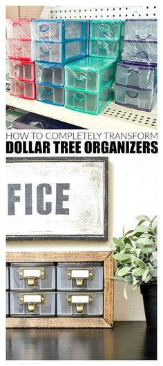 Transform Dollar Tree Organizers In a Few Easy Steps | Little House of Four - Creating a beautiful home, one thrifty project at a time.: Transform Dollar Tree Organizers In a Few Easy Steps