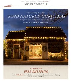 12.07.12 Good Natured Christmas sent by Anthropologie