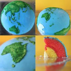 Planetary Structural Layer spherical concentric layer cakes. Designed by Cakecrumbs planets Jupiter food Earth cooking cake