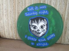 Saturday Night CAT ART by TheEscapistArtist on Etsy, $7.00
