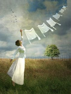 Smell: Clean laundry: Marta Orlowska-This picture makes me feel free....