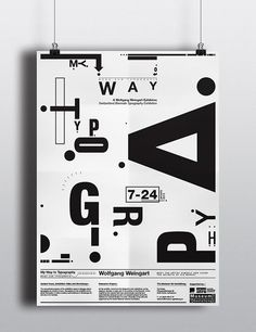 Wolfgang Weingart Exhibition Poster on Behance: