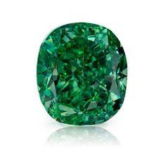 1.51ct vivid green cushion diamond. Dm me for details