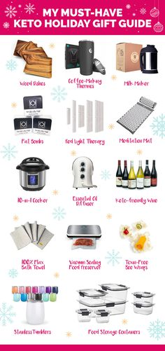 14 awesome things that you need to add to your keto Christmas wish list, plus discount codes exclusive to Healthful Pursuit readers. Holiday Gift Guide, Holiday Gifts, Christmas Gifts, Milk Makers, Make A Grocery List, Bees Wrap, Keto Shopping List, Keto Holiday, Keto For Beginners
