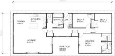 PLB116 3 Bedroom Transportable Homes House Plan