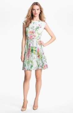 Ted Baker London 'Wallpaper' Pleated A-Line Dress available at #Nordstrom  Erin's dress from The Office finale!!!