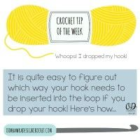 Whoops! I dropped my crochet hook … | Crochet Tip