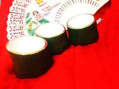 JAPANESE VINTAGE Bambooshaped Sake Shot Glasses Set by HotSAKIIII, ¥1900