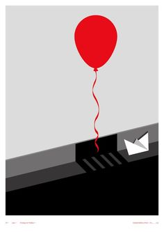 Do not know this movie, but my current standing with balloons means I will not be seeing it. Clever Posters of Classic Horror Films - My Modern Metropolis