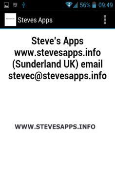 https://play.google.com/store/apps/developer?id=Steve%27s+Apps+UK
