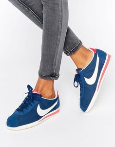 buy popular 847c2 bd710 Nike Classic Cortez Trainers In Blue at asos.com