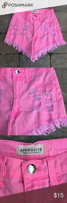 Aphrodite Shorts🔑 Crazy cute neon pink shorts by Aphrodite. In great condition🤗 true to size!!! Comment below with questions or feel free to make me an offer. Aphrodite Shorts