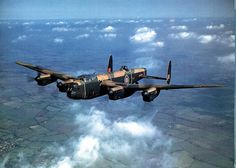 Avro Lancaster Mk II - A classic photo by Charles E Brown of a new Lancaster on a test flight from Castle Bromwich Aeroplane Factory, Birmingham, England - World War 2