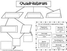 Quadrilateral graphic organizer freebie-may have to use this tomorrow! Math Worksheets, Math Resources, Math Activities, Geometry Activities, Teaching Geometry, Teaching Math, Teaching Ideas, Math Teacher, Math Classroom