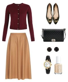 """""""Tuesday-september6"""" by mnemo7 on Polyvore featuring MaxMara, Kate Spade, Chanel, Melissa Joy Manning, Gucci and Essie"""