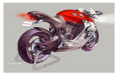 Stéphane Janin / Yamaha Motorcycle Sketch / 2008