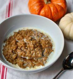 Hot Breakfast Recipe: Baked Pumpkin Steel Cut Oatmeal