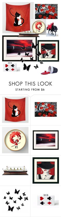 """Various Black/White/Red"" by giulia-ostara-re ❤ liked on Polyvore featuring interior, interiors, interior design, home, home decor, interior decorating, Authentic Models and Yoanny García"
