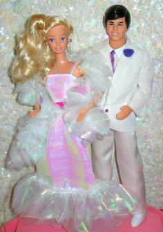 Crystal Barbie® and Ken® Doll. oh i definitely had this ken too--i remember the white suit. hard to keep clean!