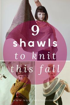 9 beautiful shawl patterns for you to knit this fall. Featuring designs from…