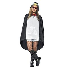 You can buy a penguin party poncho for your next party from the Halloween Spot. It is a black and white party poncho that is available with a drawstring bag. Unisex, Festivals, Festival Poncho, Penguin Costume, Christmas Fancy Dress, Halloween Costume Accessories, Funny Halloween Costumes, Adult Halloween, Halloween Outfits