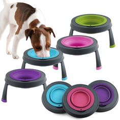 Collapsible Raised Dog Bowl - These would be great for traveling with Charlie!