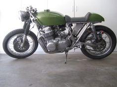 CB750, silver frame, green tank