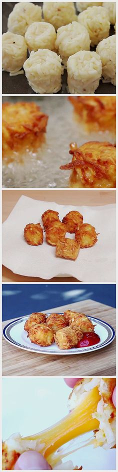 Cheese-Stuffed Tater Tots | Here Are 13 Of The Tastiest Recipes Of The Year Tasty Videos, Food Videos, Stuffed Hashbrowns, Frozen Hashbrowns, Buzzfeed Tasty, Buzzfeed Food, Breakfast Appetizers, Breakfast Bake, Appetizer Recipes
