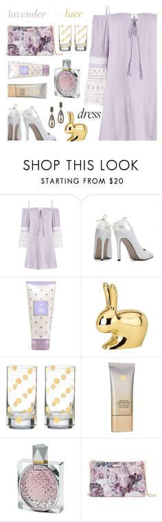"""Spring Trend: Off-Shoulder Dresses"" by annbaker ❤ liked on Polyvore featuring Ghidini 1961, Kate Spade, Estée Lauder, STELLA McCARTNEY, Ted Baker and offshoulderdress"