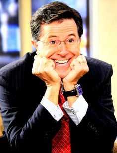 Funny. Brilliant. Looks like a Republican, but has the heart and mind of a liberal. <3    Stephen Colbert!