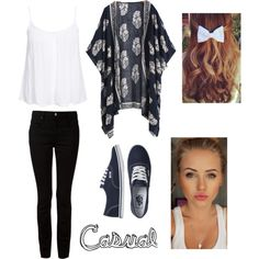 Casual for School♡ by emmamaria-mcnamara on Polyvore featuring polyvore mode style New Look T By Alexander Wang Vans