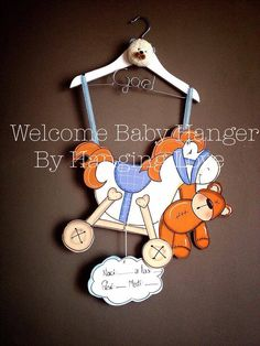 Welcome baby Hanger. Baby Shower
