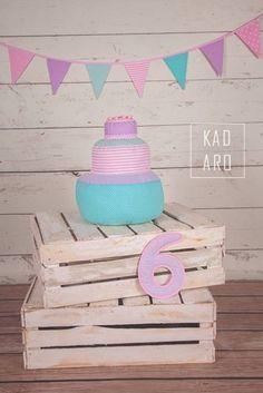 Tort + girlanda  - rekwizyt sesji foto - Kadaro - Dekoracje