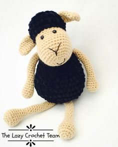 "7 Me gusta, 3 comentarios - The Lazy Crochet Team (@thelazycrochetteam) en Instagram: ""🎀 For this Amigurumi Thursday we have a little black sheep!! 😍 ¿Te han dicho que eres la oveja…"""