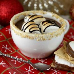 S'Mores Hot Chocolate. Hate the snow but I love me some hot chocolate!