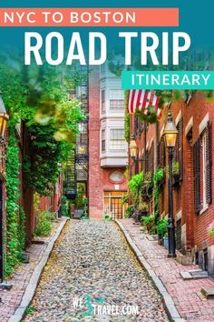Plan a road trip through Southern New England with this New York to Boston road trip itinerary including fun stops in Connecticut, Rhode Island, and Massachusetts. Perfect for a family vacation or adjustable for a long weekend getaway. Free Travel, Travel Usa, Family Vacation Destinations, Vacations, Road Trip Hacks, Road Trips, Boston Travel, New England Travel, Boston Public