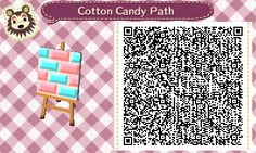Animal Crossing: New Leaf QR Code Paths Pattern, freckle-crossing: Some super sweet cotton candy...