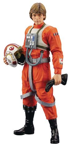 From the hit classic, Star Wars: Episode IV A New Hope, comes an all new Luke Skywalker statue! Luke Skywalker in his X-Wing Pilot suit joins Kotobukiya's Star Wars Luke Skywalker, Star Wars Episode Vi, Episode Iv, X Wing, Sith, Star Wars Stormtrooper, Kotobukiya Star Wars, Figurine Star Wars, Star Wars Merchandise