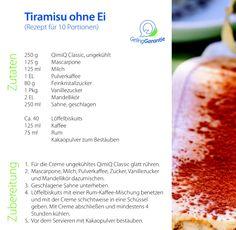 Tiramisu ohne Ei Rum, Vegetables, Food, Cacao Powder, Food Portions, Kaffee, Cakes, Essen, Veggies
