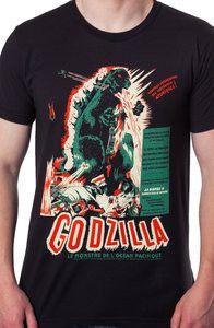 Godzilla Shirt: Non 80s Movies: Licensed Godzilla T-Shirts