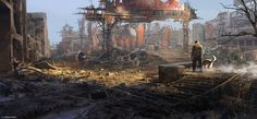 ArtStation - The Wasteland, Max Bedulenko Post Apocalypse, Apocalypse World, Wasteland Warrior, Post Apocalyptic Art, Environment Concept Art, Science Fiction Art, Environmental Art, End Of The World, Adventure Time