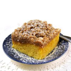 Starbuck's Coffee Cake — From the Kitchen of One Perfect Bite. I hadn't planned to include this coffee cake in the series I'm featuring this week. I changed my. Cookbook Recipes, Baking Recipes, Cake Recipes, Dessert Recipes, Lunch Recipes, Healthy Recipes, Just Desserts, Delicious Desserts, Yummy Food
