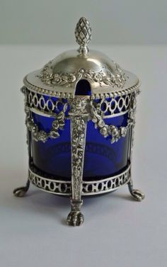 CONTINENTAL SILVER MUSTARD POT : Lot 23. 19th century